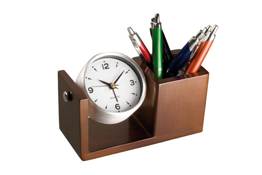 Ceas de birou din aluminiu cu suport | 2291801