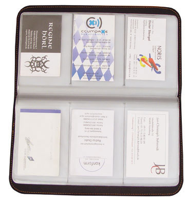 Port SONDER pentru 72 carti de vizita, negru  | 2907101