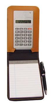 Mapa mini SONDER din piele cu calculator, bloc notes si pix metal.  | 2907601