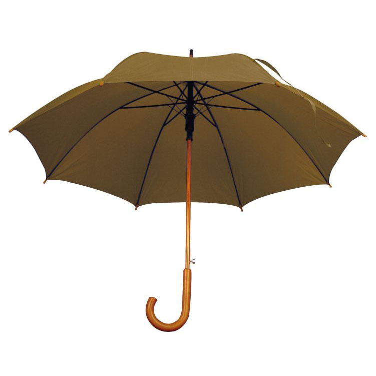 Umbrela automata cu tija si manerul curbat din lemn.  | 4513101