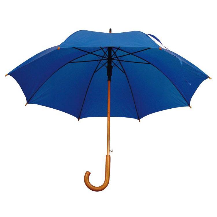 Umbrela automata cu tija si manerul curbat din lemn.; cod produs : 4513104