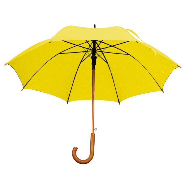 Umbrela automata cu tija si manerul curbat din lemn.; cod produs : 4513108
