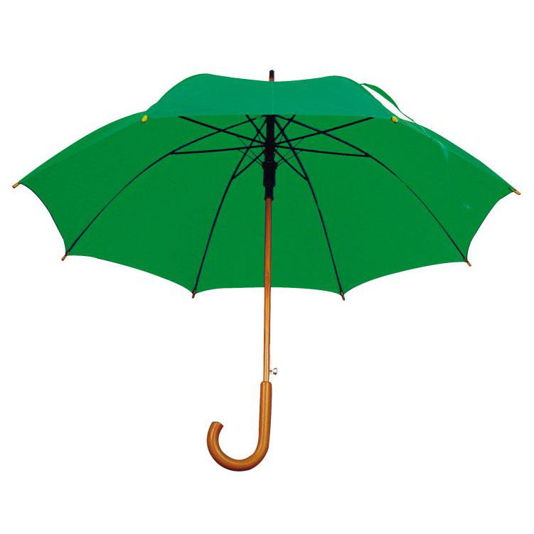 Umbrela automata cu tija si manerul curbat din lemn. .; cod produs : 4513109