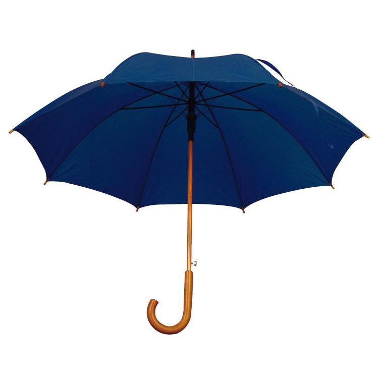 Umbrela automata cu tija si manerul curbat din lemn.; cod produs : 4513144