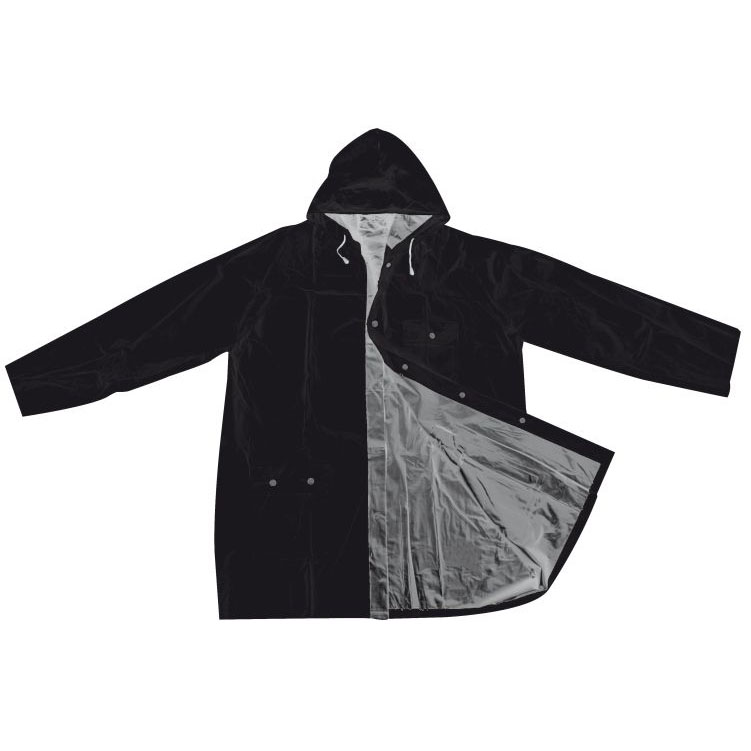Pelerina de ploaie reversibila din PVC cu patenti si capison | 4920537