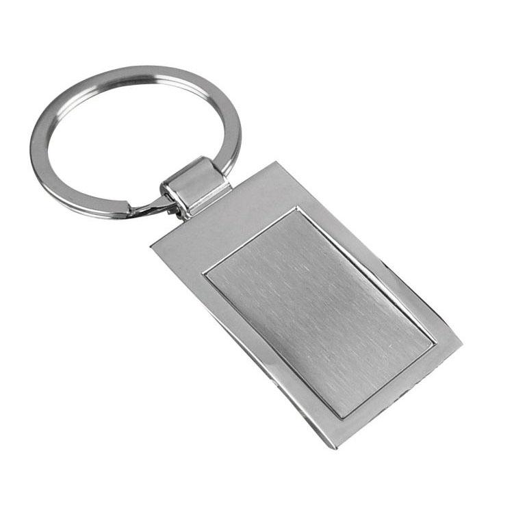 Breloc metalic in forma de dreptunghi cu interiorul mat impachetat | 9221207