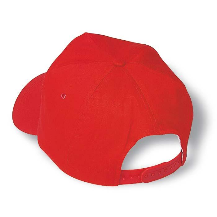 Sapca de baseball cu curelusa ajustabila din plastic. 5 fete.Bumbac.;KC1447-05