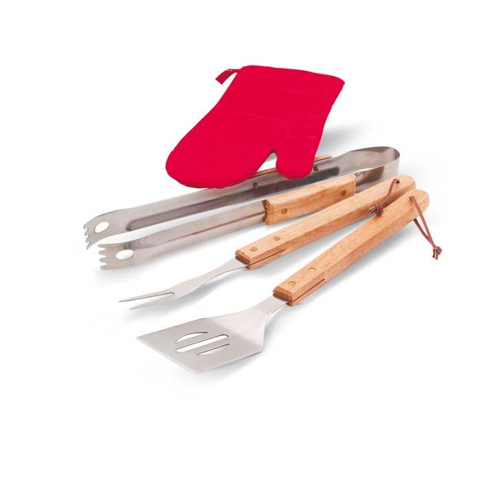 Sort, ustensile si manusa pentru facut gratar. | KC6388-03