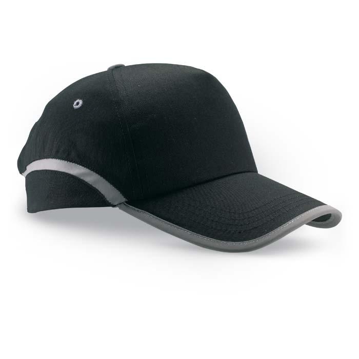 Sapca de baseball cu panglica contrastanta, neagra | KC6403-03