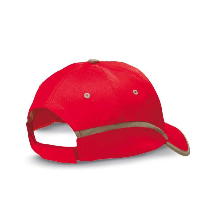 Sapca de baseball cu panglica contrastanta, rosie; cod produs : KC6403-05