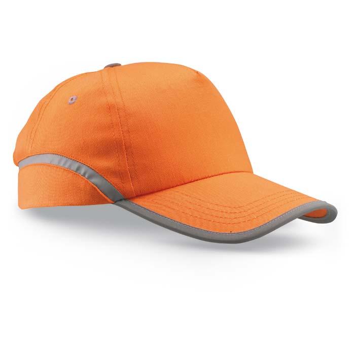 Sapca de baseball cu panglica contrastanta, portocalie; cod produs : KC6403-10