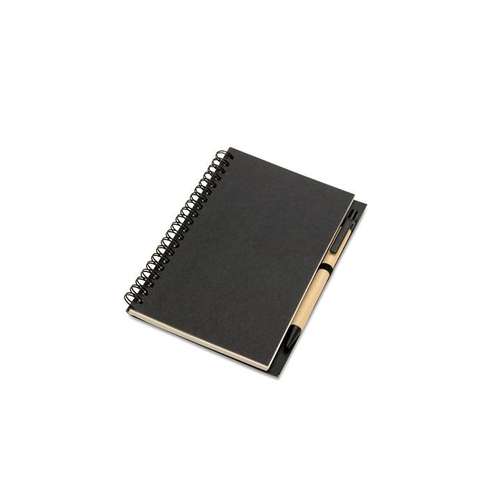 Bloc notes de culoarea neagra, 70 de file | KC7012-03