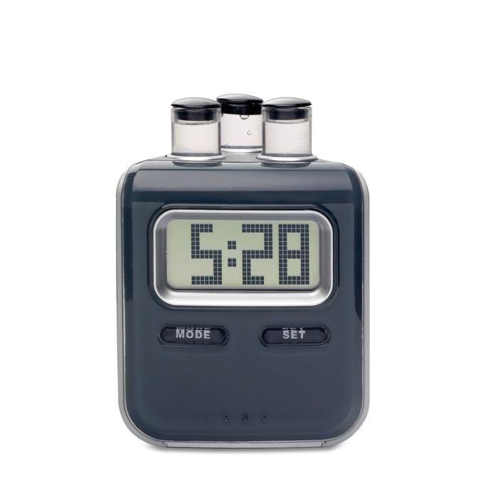 Ceas cu ecran LCD, in carcasa din ABS, care functioneaza pe baza de baterie cu apa | KC7030-03