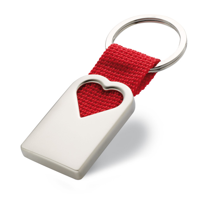 Breloc din metal in forma de inima | MO7155-05