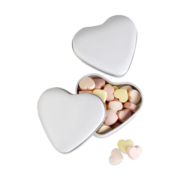 Cutie metalica in forma de inima cu 24 gr bomboane | MO7234-06