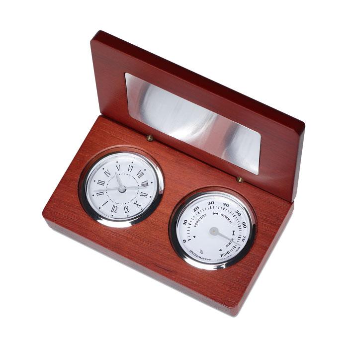 Ceas si busola in cutie din lemn | MO7336-40