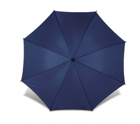 Umbrelă Classical cu băţ şi mâner din lemn, automată, albast | 4070-05