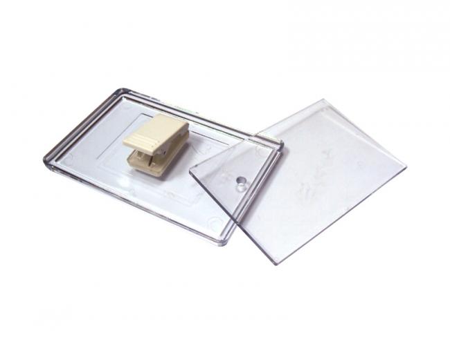 Ecuson transparent cu clips   4474