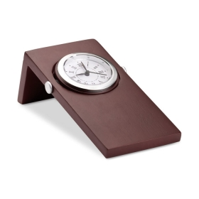 Ceas analogic din lemn. 1 baterie de tip celula inclusa. Aspect lemn mahon. | MO7494-40
