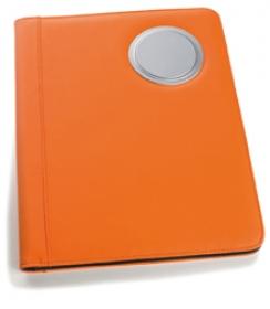 Mapa de conferinta cu calculator, portocalie | 14043.22