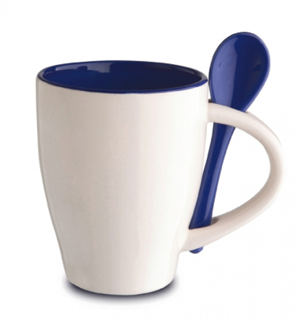 Cana ceramica Norwood si lingurita, alba | 81065.10