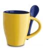 Cana ceramica Norwood si lingurita, galbena; cod produs : 81065.23