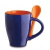 Cana ceramica Norwood si lingurita, albastra; cod produs : 81065.52