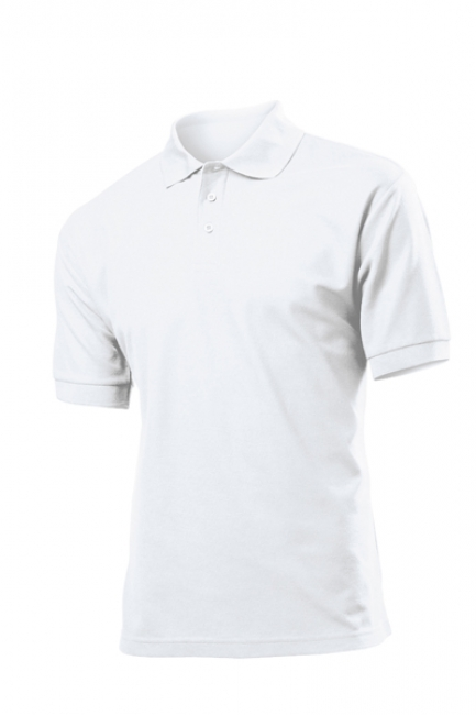 Tricou Stedman polo 65/35, alb | ST3300_WH