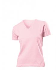 Tricou Stedman clasic v-neck dama, roz deschis;ST2700_LP