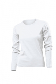 Tricou cu maneca lunga Stedman Comfort dama, alb | ST2140_WH