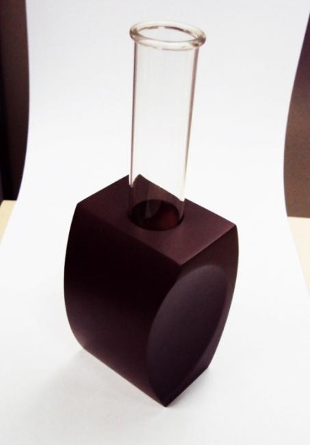 Vaza sticla lemn | 83303