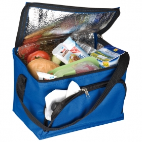 210D polyester cooler bag with front compartment | 6832104