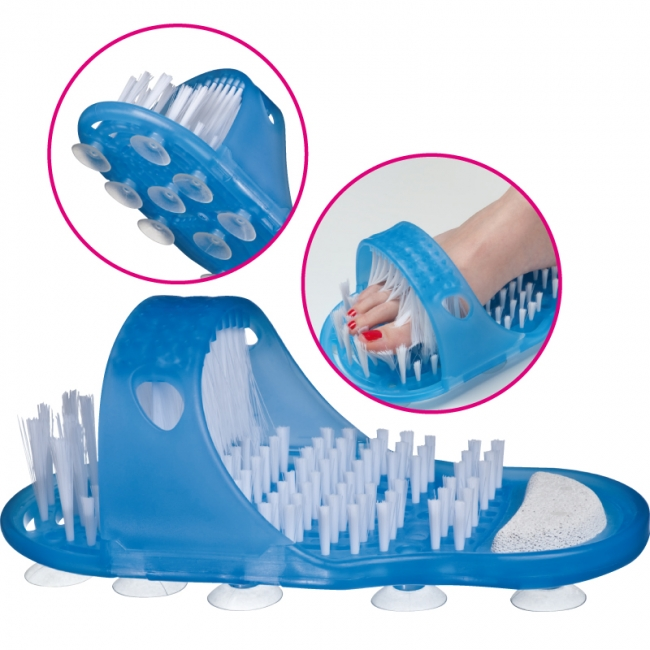 Bathing shoe with brush and pumice stone | 7833004