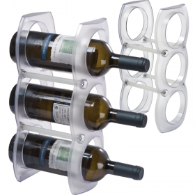 Plastic wine rack for three bottles | 8837806
