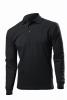 Tricou Hanes Top PoloTM Long Sleeve, negru; cod produs : HAG136_BK