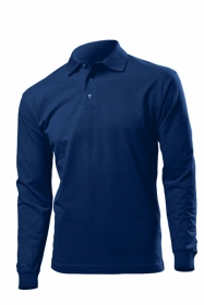 Tricou Hanes Top PoloTM Long Sleeve, Navy | HAG136_NY
