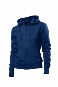 Jacheta Hanes Spicy Hooded Sweat, Navy;HA6510_NY
