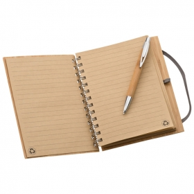Note pad with bamboo cover A5 | 2890901