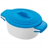 Oala de portelan cu capac de silicon, albastra; cod produs : 8889404