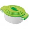 Oala de portelan cu capac de silicon, verde deschis ; cod produs : 8889429