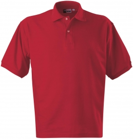 Tricou Boston polo basic, rosu | 3177F704