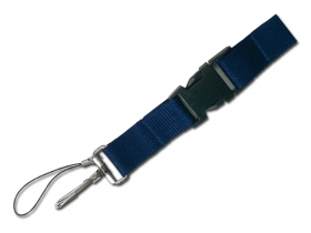 Lanyard navy blue;71084-24