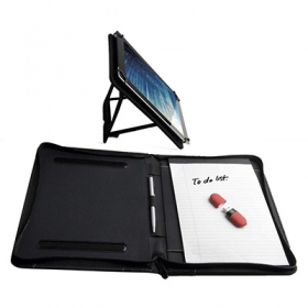Colour contrast padfolio with tablet holder | 09504.10
