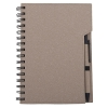 Coloured eco notebook with pen; cod produs : 13186.00