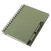 Coloured eco notebook with pen; cod produs : 13186.60