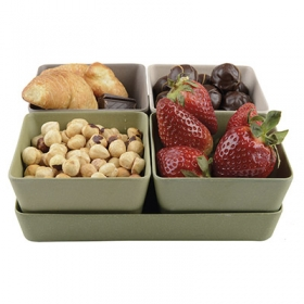 Bamboo fibre 4 piece snacks set | 85030.62