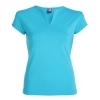 Tricou cambrat cu guler tunică, mânecă semi pe umeri cu garnitură și cusături laterale.; cod produs : 6532_12