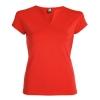 Tricou cambrat cu guler tunică, mânecă semi pe umeri cu garnitură și cusături laterale.; cod produs : 6532_60