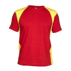 Guler in 4 straturi, tricou cu diferite culori. Inserţii laterale si la umeri. Cusaturi intarite la umeri si guler , cusaturi laterale. | 6526_6003
