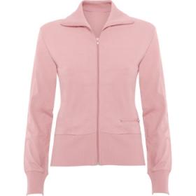 Jachetă cu guler înalt și fermoar întreg, buzunar lateral cu fermoar și manșete, guler și talie terminate în canelat lat. ;1208_48